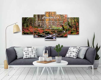 Proverbs 3:5-6 #27 NIV Trust in the Lord Bible Verse Canvas | Christian Canvas | Scripture | Religious | Wall Art | Home Decor Paintings