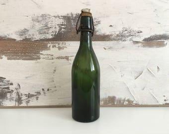 Old green  bottle - Vintage bottles - Beer bottles - An old green beer bottle