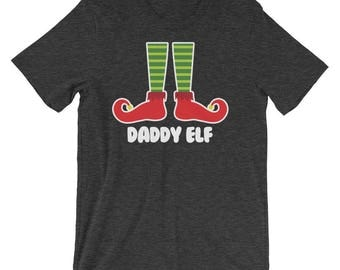 Daddy Elf Family Portrait Christmas Picture Greeting Cards