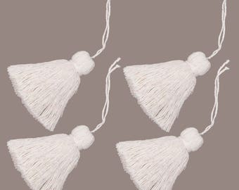 "Additional extra accessories - ""Tassel"" made from natural cotton - four (4) piece set"