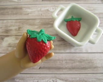 Strawberry Play Food for American Girl Dolls / Doll Play Food / 18 Inch Doll Food / American Girl Dolls Food / American Girl Doll / kawaii