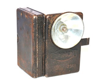 Vintage military flashlight 1940's,pocket flashlight,Lantern Daimon, Gift for Him, Pocket lantern, collectible, Christmas Gifts, For Him