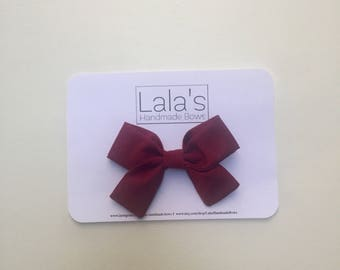Burgundy Solid Bow