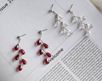 diagonal line earring