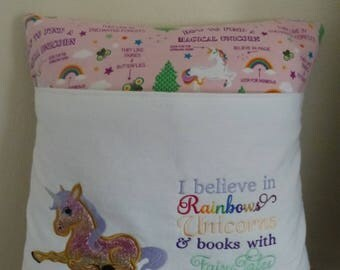 Magical Kingdom Unicorn Reading Buddy PillowPILLOW CASE ONLY