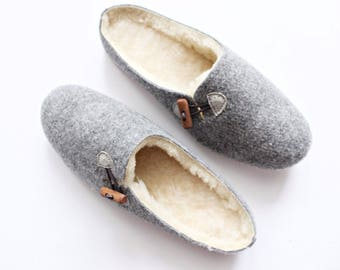 Natural wool felted felt slippers woolen moccasins indoor warm women boots winter fur shoes christmas gift handmade comfortable slippers