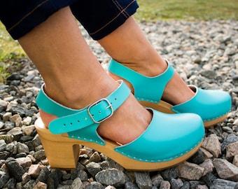 Clogs swedish clogs wooden clogs moccasins leather sandals women clogs leather sandals women clog sandals wood clogs platform boots mules