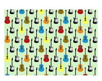 Unique High Quality Multi Colour Guitar Gift Wrapping Paper-Size A3 - GP-112