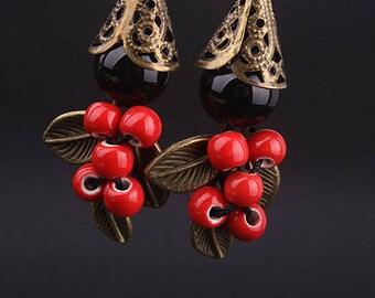 Oriental Style Dangle Earrings