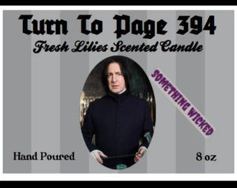 Severus Snape Harry Potter Inspired Candle