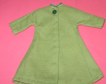 1960s Barbie Swing Coat Green - Vintage Barbie Green Coat - Vintage 1960s Barbie Doll Clothes