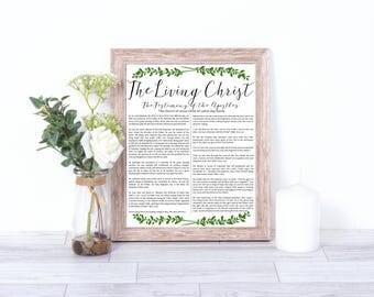 LDS The Living Christ, LDS art, LDS Printables, The Living Christ, The Living christ printable