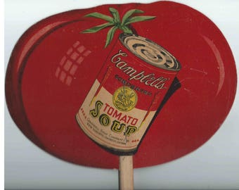 Personal Handheld CAMPBELL'S SOUP FAN-1930's Era