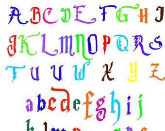 Harry Potter Font Svg / Eps / Dxf /  files INSTANT DOWNLOAD!