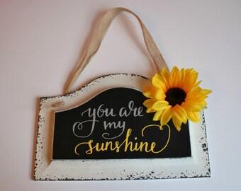My Sunshine Sign White Sign Chalkboard Sign Baby Shower Gift Kids Bedroom Decor Dorm Decor Gift For Her Mother's Day Gift Nursery Decor