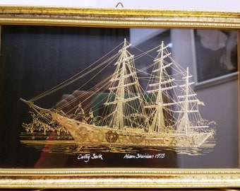 Cutty Sark Ship by Adam Sheridan Collage with Watch Parts