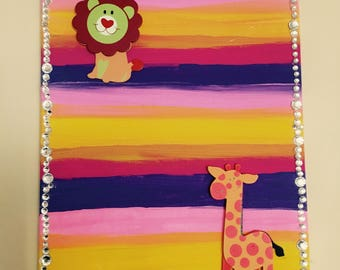 Animal Wall Decor for Girls Room