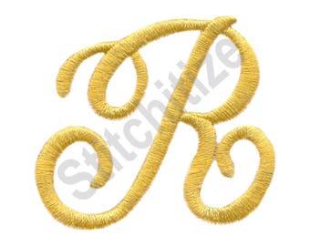 Victorian Alphabet R - Machine Embroidery Design