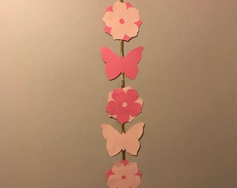 Butterfly and Flower Banner