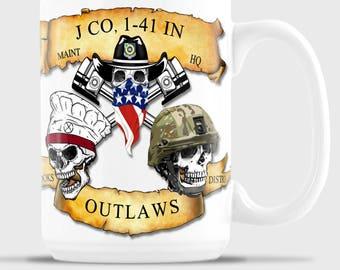 J COMPANY OUTLAWS White 15 oz Mug
