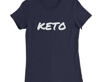 Women's Slim Fit Keto T-Shirt - Ketosis | Low-Carb | Weight Loss