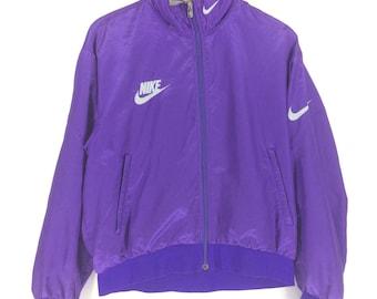 Vintage Nike Grey Tag Jacket/Windbreaker Medium Size Rap Tees Hip Hop Fashion