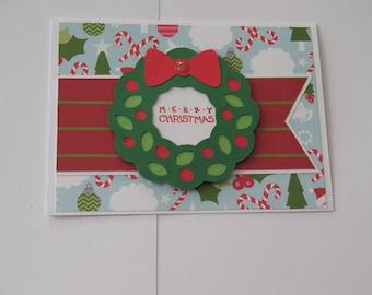 Sale Wreath Christmas Card