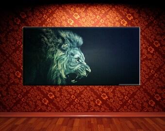 Lions Roar, Canvas Framed Wall Art