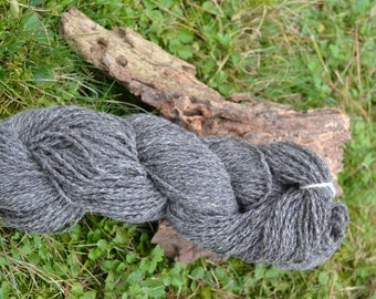 100g knitted wool natural dunkelgrau 100% pure sheep wool natural from the rugged woolly Pomeranian sheep