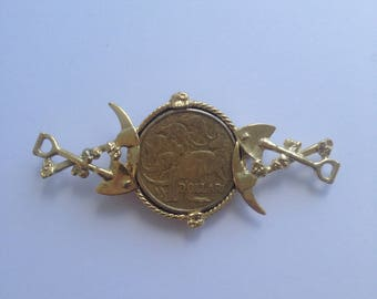 Gold plated Finshed Brooch