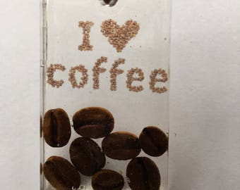 Resin I Love Coffee Necklace/ Pendant
