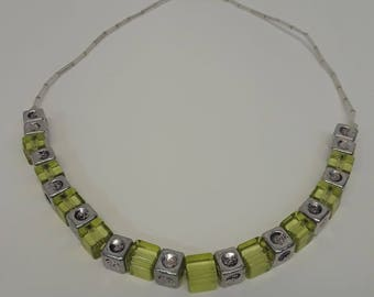 Green Squares Necklace