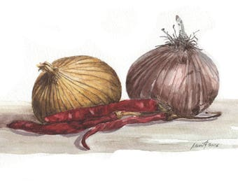 Still life. Onions