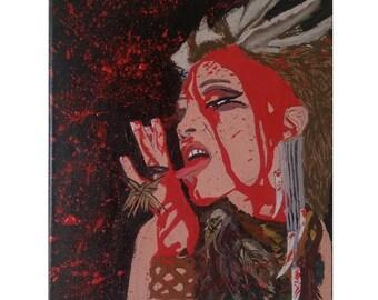 Woman Warrior  Acrylic Canvas