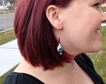 Gray Marble Earrings