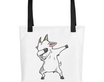 Funny Dabbing Goat Tote bag, Cute Goat Pet bag