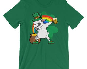 Funny Dabbing Leprechaun Goat T-Shirt, St Patricks Day Shirt