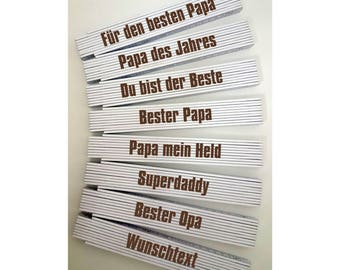 2 meters of Adga with engraving for Papa Father Grandpa individually engraved gift personalized Birthday