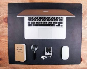 Leather desk pad Desk accessory Leather desk mat Mouse pad Leather mouse pad Gift for her Desk pad Leather desk blotter Leather tablet mat