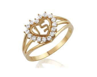 Gold 15 Anos Heart Ring