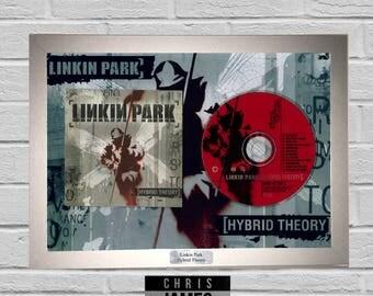 Linkin Park - CD Frame Presentation Memorabilia Hybrid Theory Chester