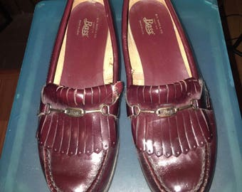 Womens Vintage Bass Weejuns Oxblood Penny Loafers Size 6