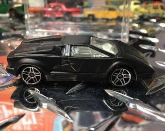Custom Satin Hot Wheels Lamborghini Countach Flat Black