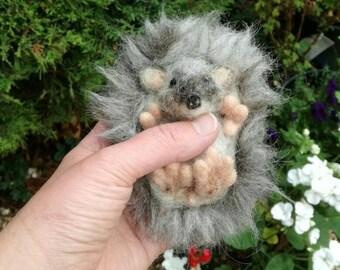 Needle felted Hoglet/hedgehog