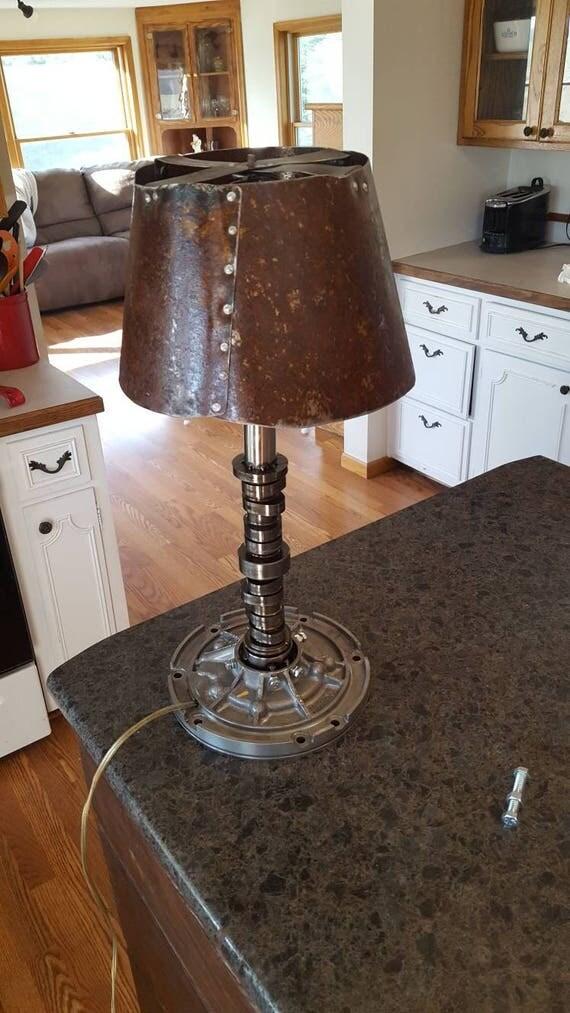 Welded Cam Lamp Camshaft Scrap Metal Art Beamish Half Cam