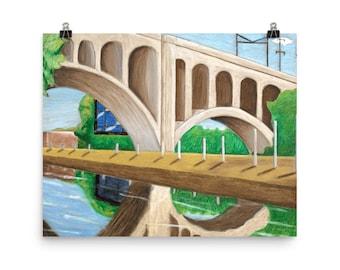 Manayunk Bridge - Beautiful Archival Cotton Rag Fine Art Giclée Print Supporting the Nonprofit Fresh Artists