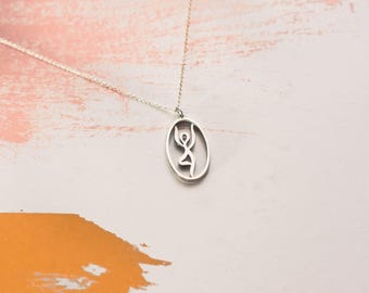 Yoga Jewelry | Tree Pose | Sterling Silver