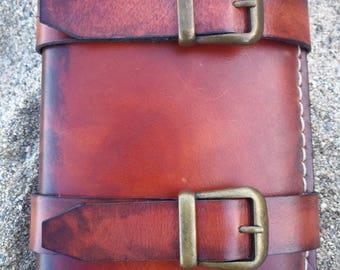 Leather wallet, Leather wallet, wallet, pirate wallet, Brown leather, brown leather Pirate, grimoire, Book of spells