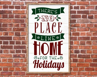 Home For The Holidays SVG, Fixer Upper Christmas SVG, Joanna Gaines Christmas Vector, Magnolia Market, Cut File, Stencil, Print, Sign