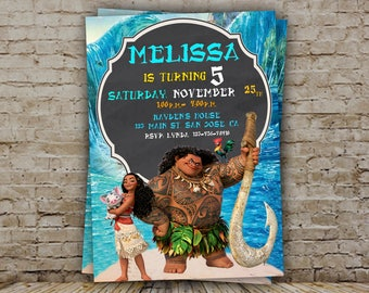 Moana Invitation, Moana Birthday, Moana Invite, Moana Party, Moana Birthday Invitation, Moana Birthday Invite